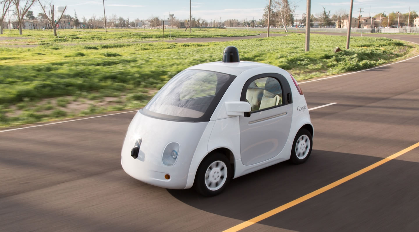 Google's latest experimental self-driving car; non-automotive companies are now challenging the sector