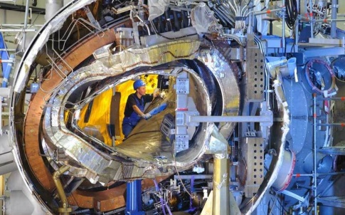 Work was completed on the W 7-X stellarator late last year