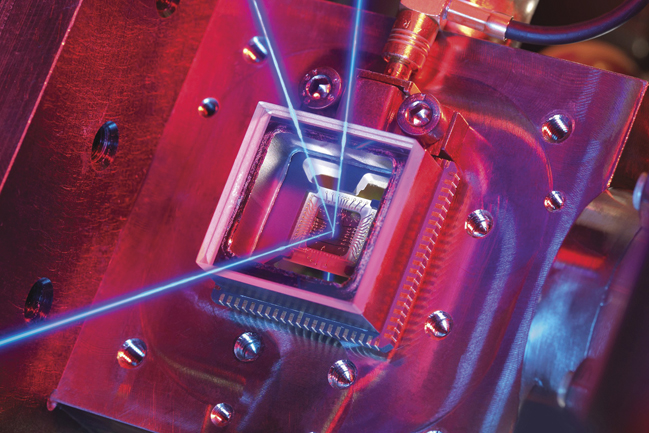 A component of a quantum gravity detector, being developed at the university of Birmingham
