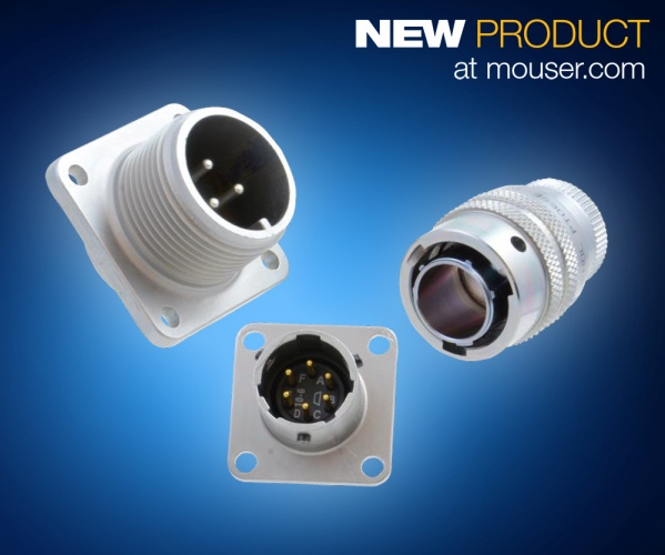 Mouser Adds Amphenol's RoHS-Compliant ZnNi Connectors for harsh environments