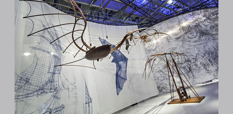 Leonardo's flying machines © Science Museum, models © Archivio Museo Nazionale della Scienza e della Tecnologia Leonardo da Vinci – Alessandro Nassiri