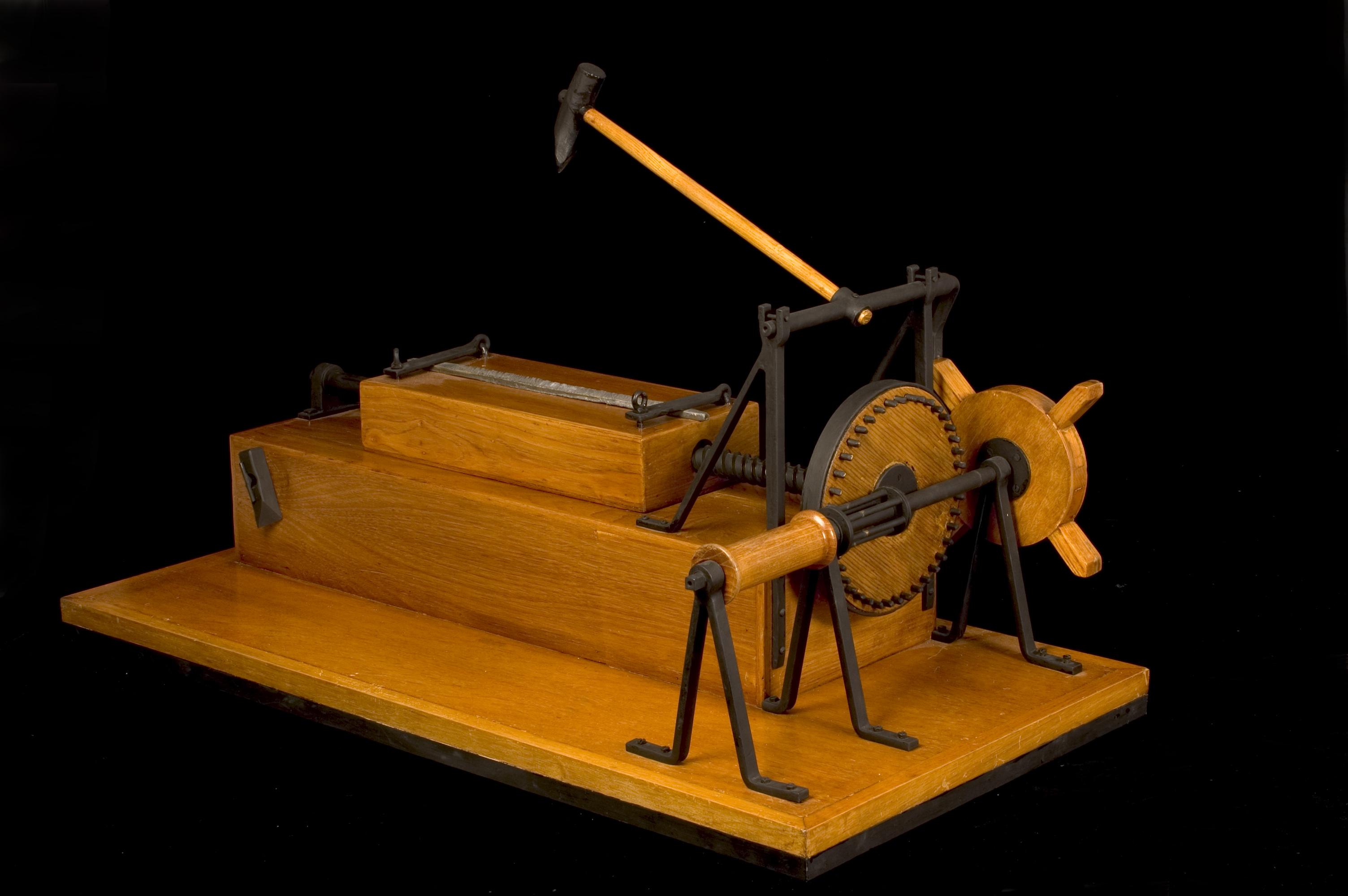 Leonardo's file-cutting machine tool © Archivio Museo Nazionale della Scienza e della Tecnologia Leonardo da Vinci – Alessandro Nassiri
