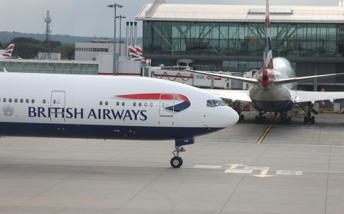 LONDON, UK:  British Airways 777-300 G-STBL at London Heathrow on 12 August 2014 (Picture by: Nick Morrish/British Airways)