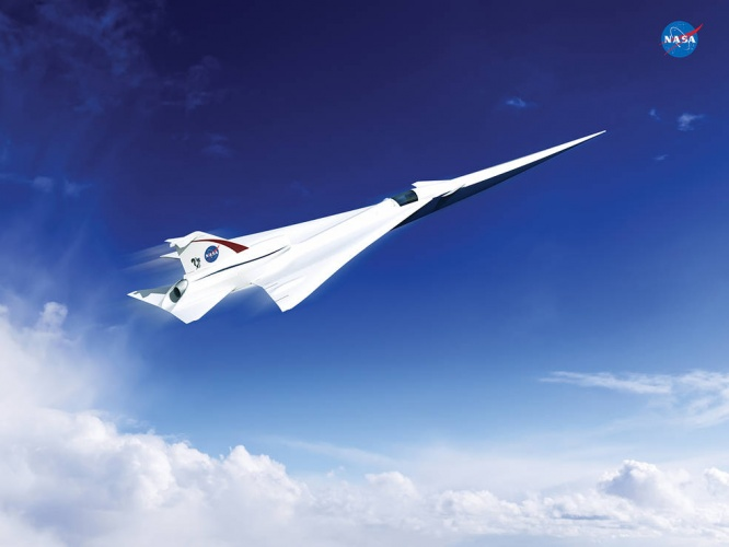 Artist's concept of a possible QueSST X-plane design (Credit: Lockheed Martin)