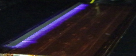 A prototype plasma wing with the distinctive purple electrical field (Credit: MMU)