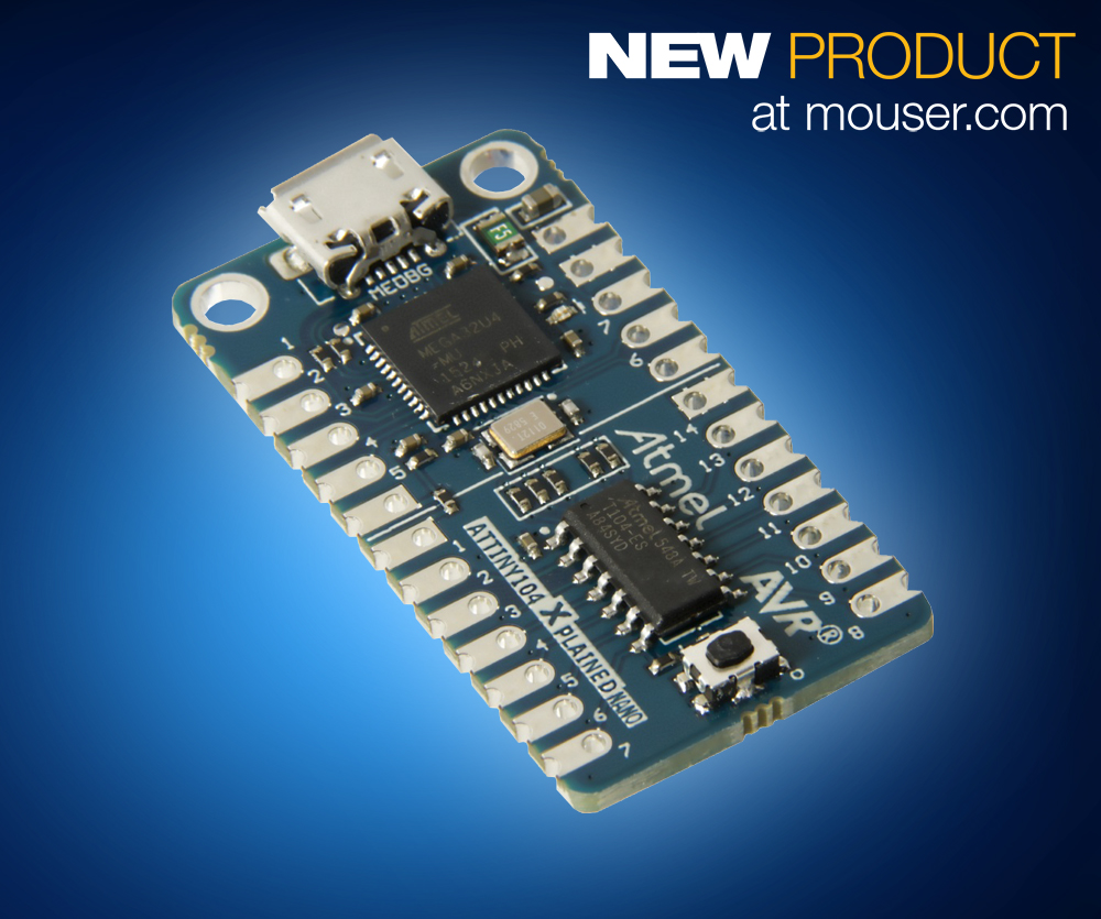 Nano Evaluation Kit For Attiny102 104 Avr Microcontrollers