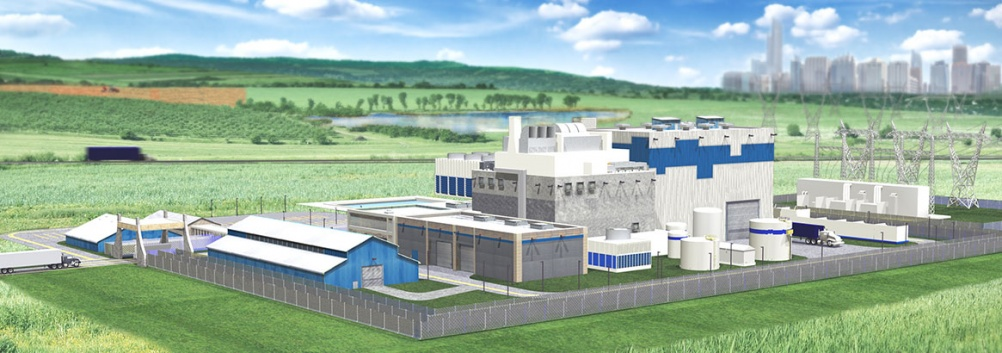 Artist's impression of as SMR power station (Credit: Westinghouse)