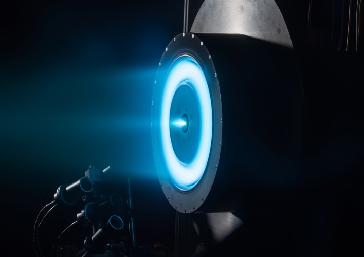 Solar electric propulsion (Credit: NASA)