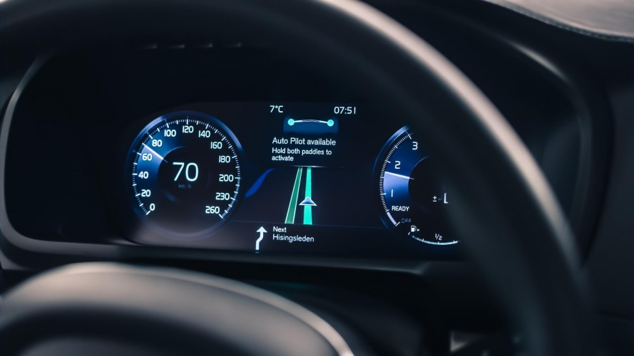 Volvo's IntelliSafe Auto Pilot interface (Credit: Volvo)