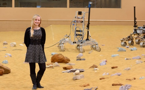 Airbus Space & Defence engineer Abbie Huttie is working on the ExoMars Rover