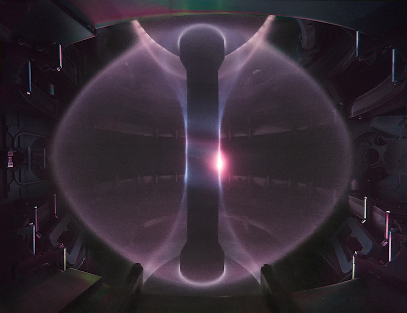 A plasma in the MAST spherical tokamak at Culham