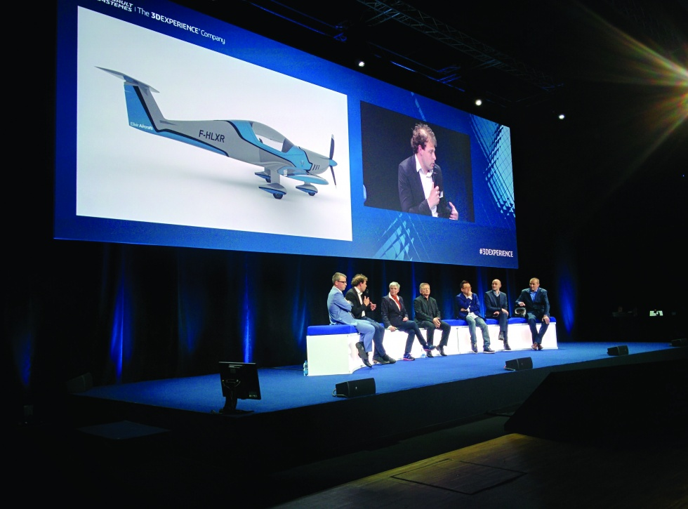 CEO Arthur Léopold-Léger speaking at the recent Dassault Systèmes event in Milan