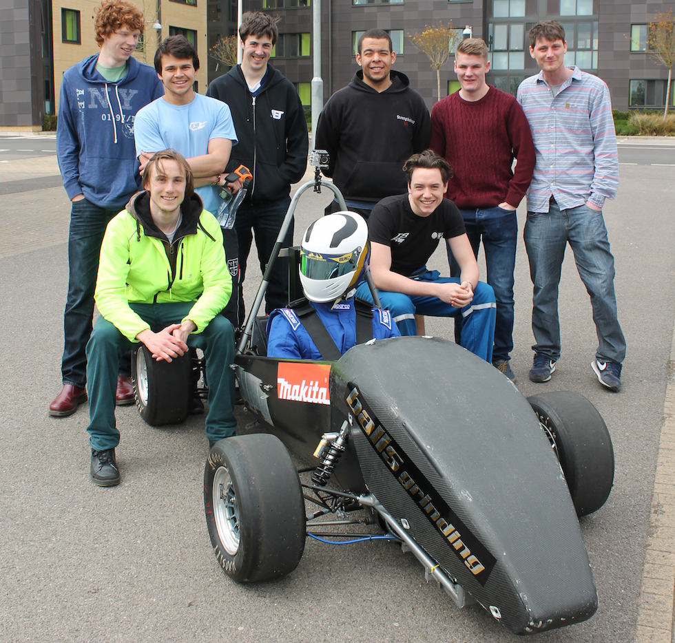 The team behind the electronic car
