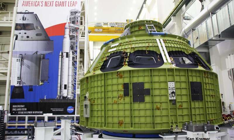 The pressure vessel for the EM-1 Orion crew module is currently being tested at Kennedy Space Centre. Credit: Ken Kremer/kenkremer.com