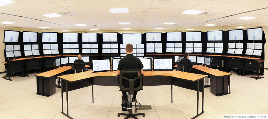 NuScale Power control room simulator (Credit: NuScale)