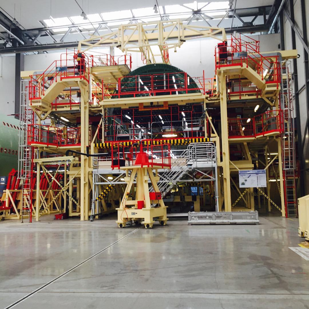 A section of A380 fuselage nears completion