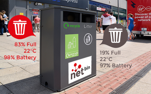 Netbins, in Milton Keynes, monitor how full they are, so they are only emptied when full