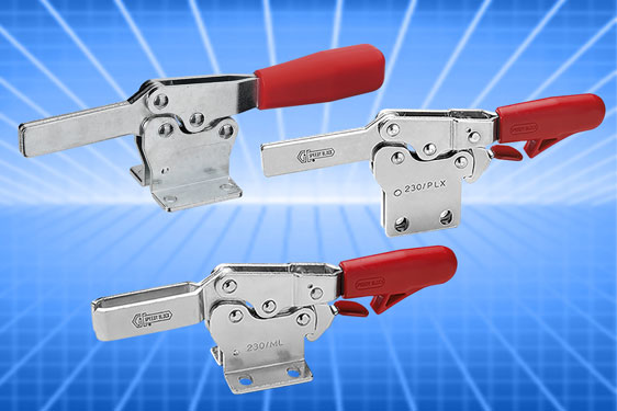 MO series horizontal toggle clamps from Elesa with anti-release trigger