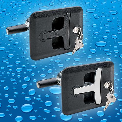 New IP65 flush fit compression T bar latch from Elesa UK