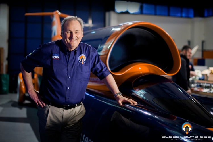 Richard Noble alongside Bloodhound (Credit: Stefan Marjoram)