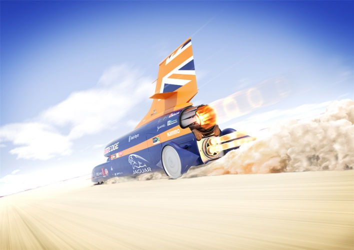 Artist's impression of Bloodhound on the Hakskeen Pan
