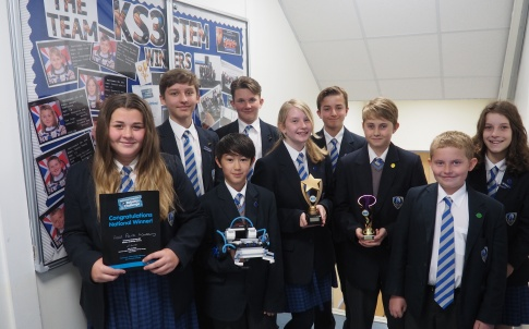 The winners of the National Robotics Challenge, from Hall Park Academy