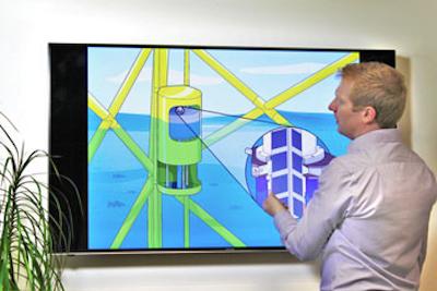 Alan Mackay  working on Trident's new PowerPod II concept
