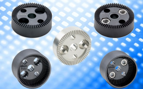 Circular toothed clamping plates from Elesa UK