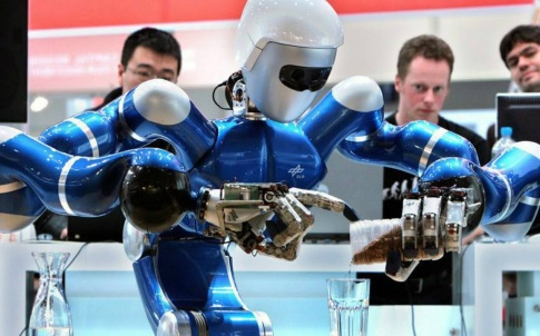 Robot bartenders have been introduced on cruise ships (Credit: YouTube)