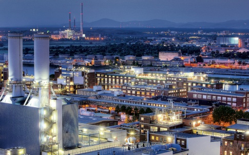 A view across BASF's Ludwigshafen complex