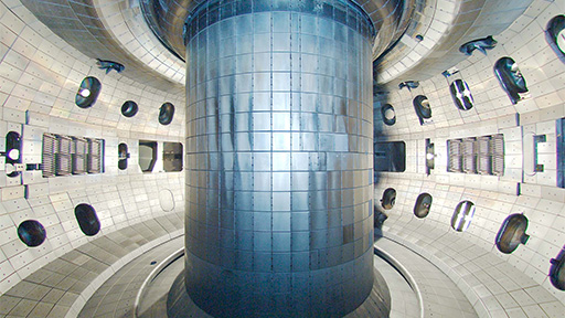 Inside DIII-D. Image: US Department of Energy