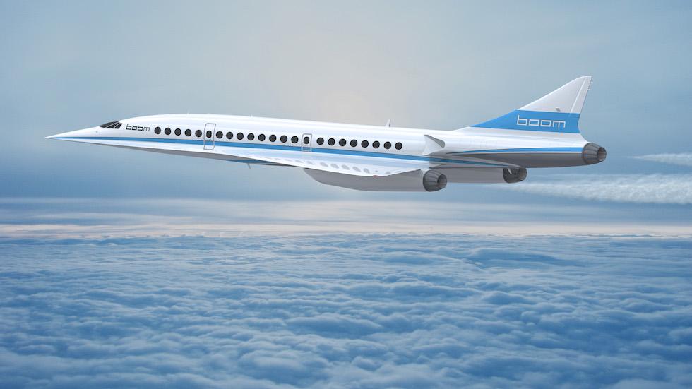 Boom passenger airliner