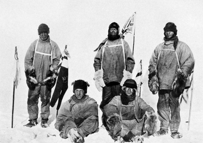 Scott's ill-fated expedition at the South Pole. (Credit: Henry Bowers)