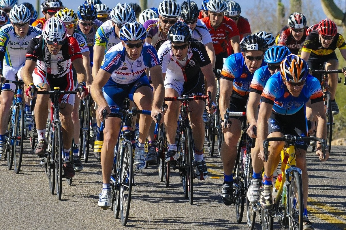 The desert cycle race El Tour de Tucson provided stringent testing conditions for the sweat analysis patch.