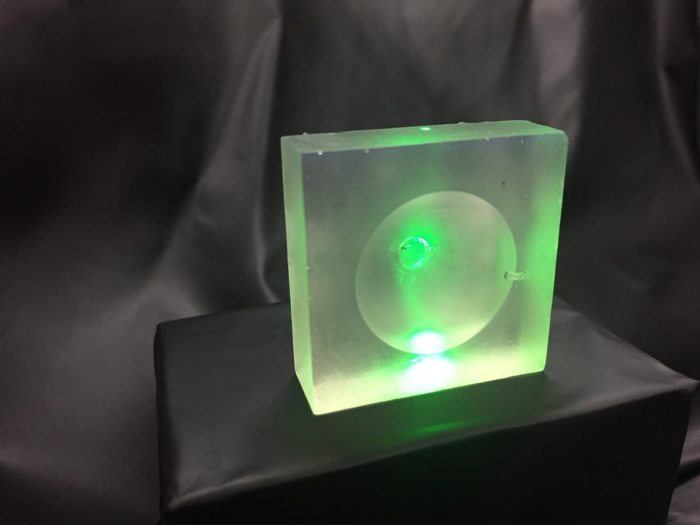 The 3D printed lenses generate enhanced ultrasound or photoacoustic waves which current ultrasound machines are unable to do