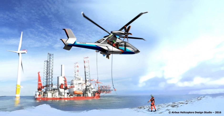 The Clean Sky 2 Rotorcraft could reach distant offshore hydrocarbon and wind facilities more easily