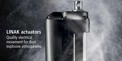 actuators for dust-explosive atmospheres