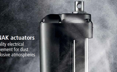 actuators for dust-explosive atmospheres