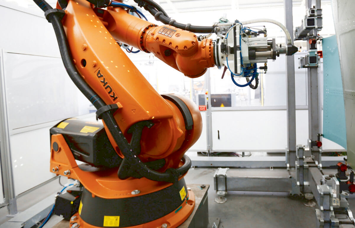 The robotic countersinking machine developed at AMRC in Sheffield