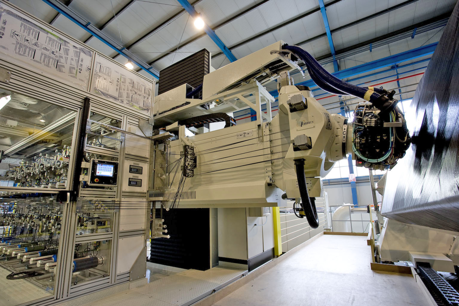 The fibre placement machine at GKN's Severnside factory