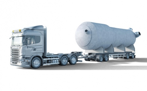 The reactor vessel is small enough to be transported by road