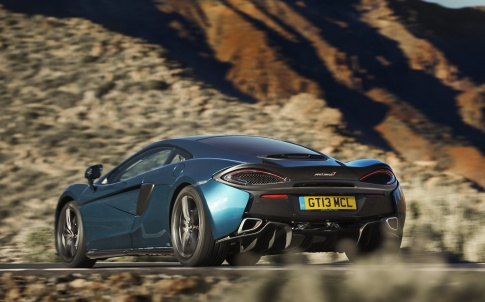 The 570 GT on the mountain roads of Tenerife: a far cry from rainy Northamptonshire