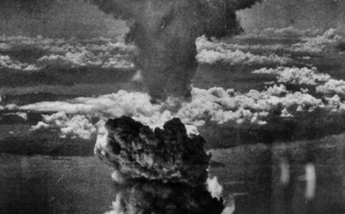 Mushroom cloud over Nagasaki, August 1945