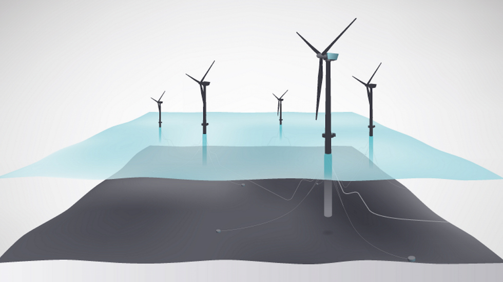 Hywind Scotland wind farm illustration