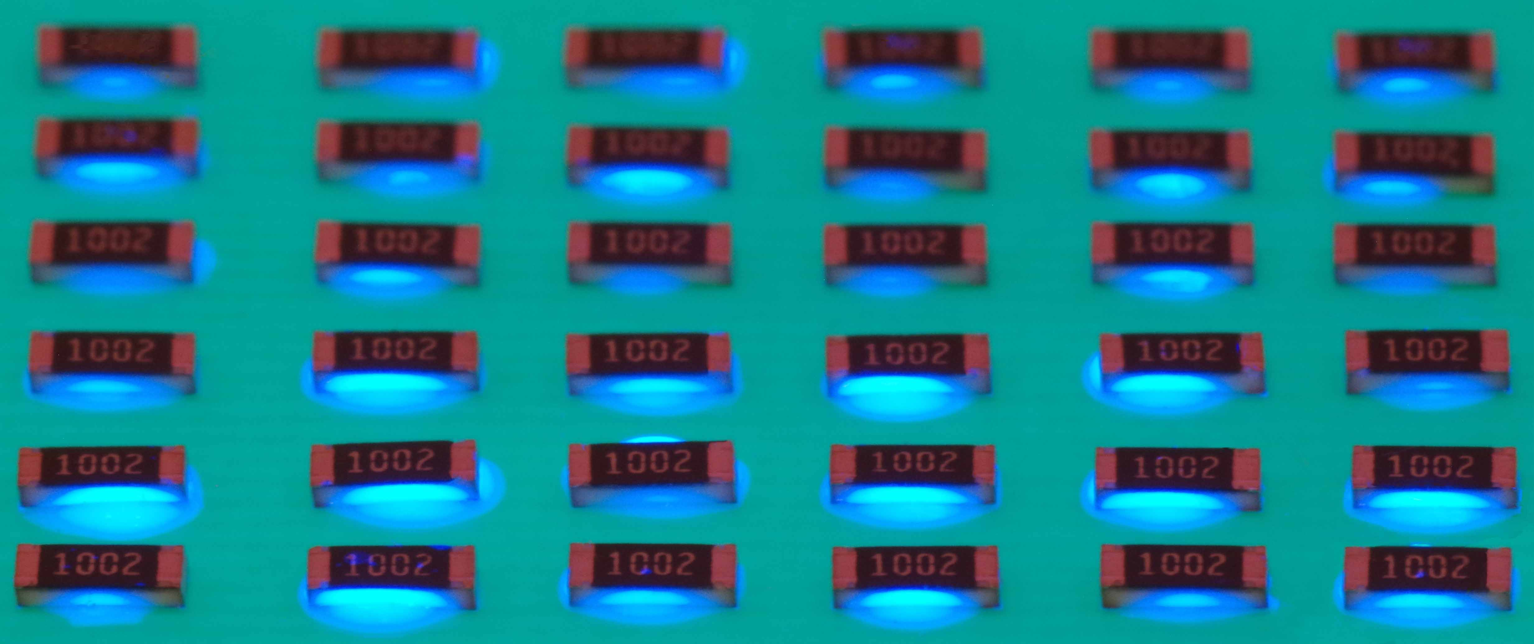 Glob top encapsulation of chips using Vitralit UD 8050
