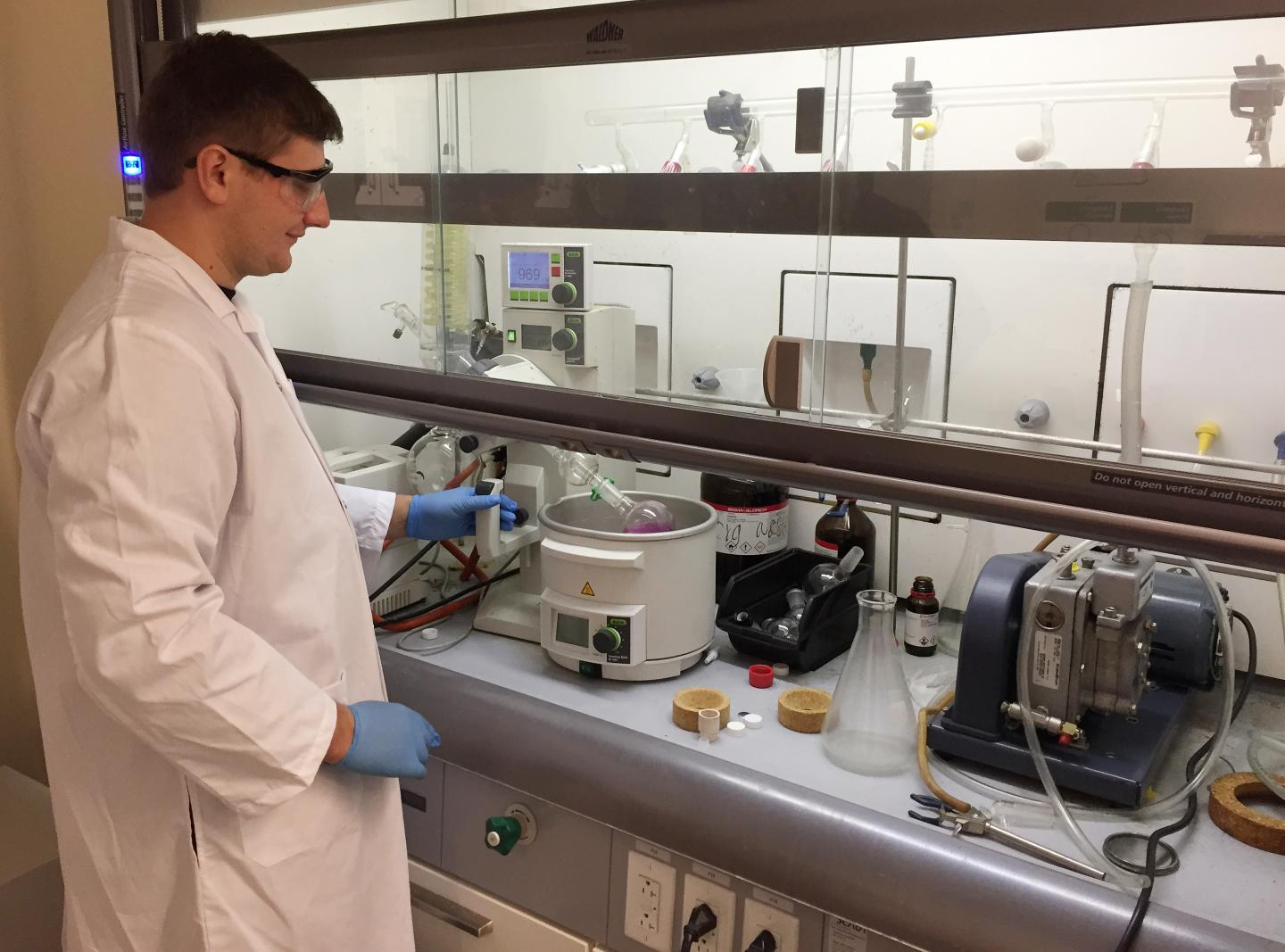 A York University graduate student preparing cells that will be stuck together to form heart tissue