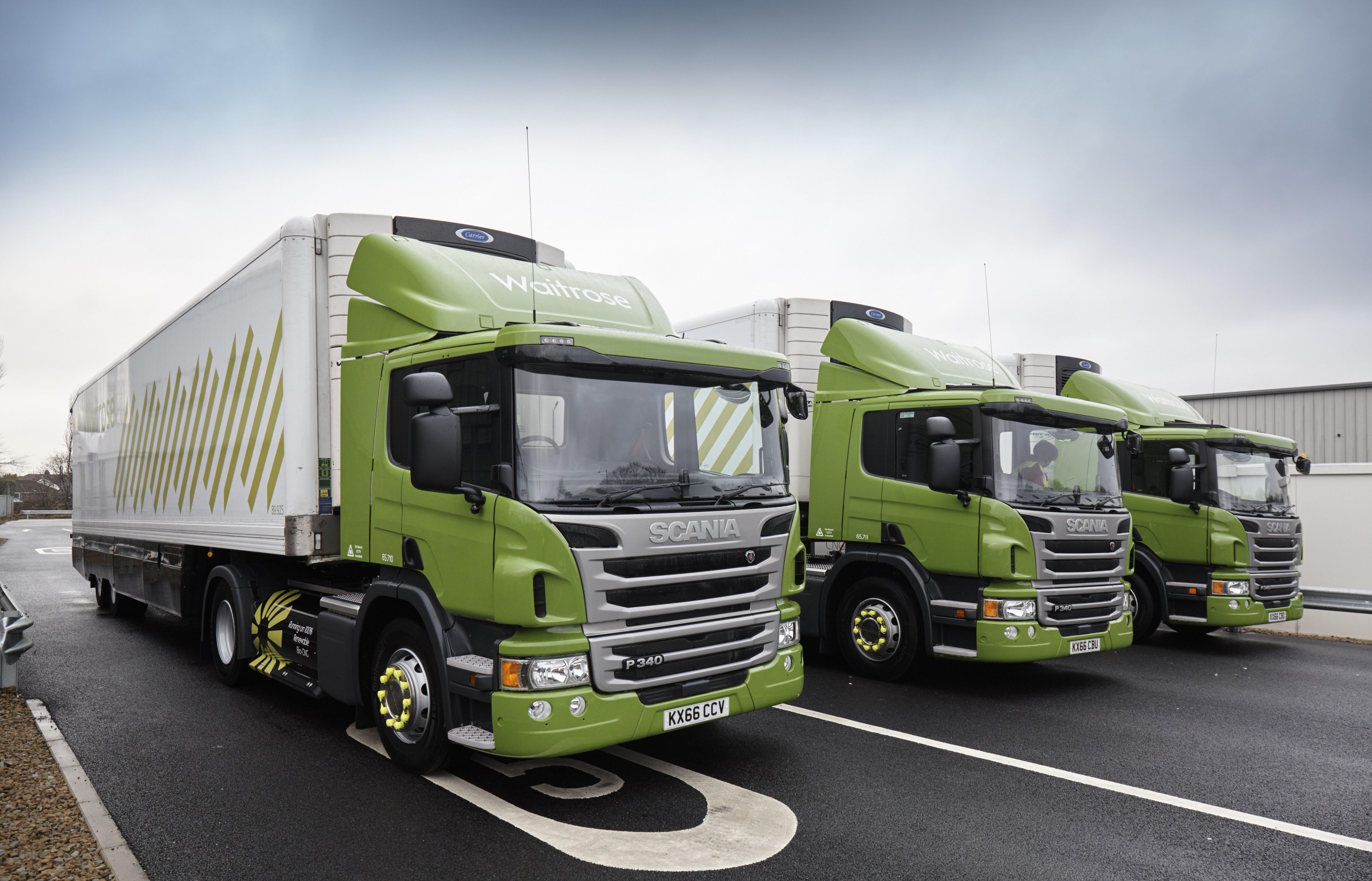 Waitrose Reveals New Cng Truck Fleet The Engineer The