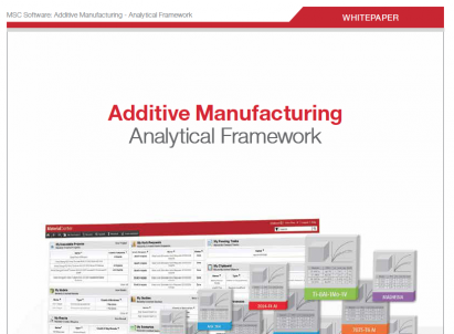 Simulation process of 3D additive manufactured parts and assemblies