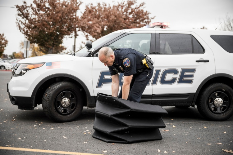 Engineers design a bulletproof origami shield to protect law enforcement