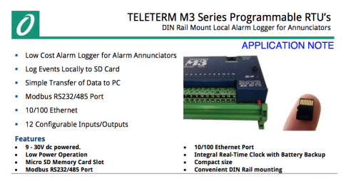 DIN Rail Mount Local Alarm Logger for Annunciators